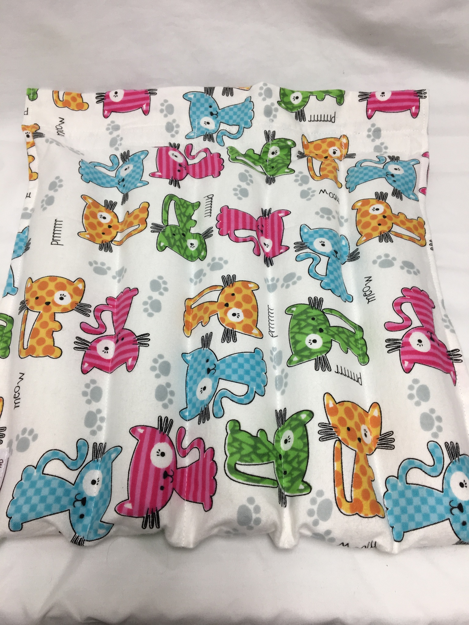 Lap Pad White W Colorful Kittens Weighted Blankets By